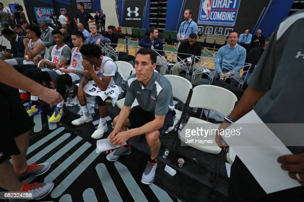 Pablo Prigioni coaches during the NBA Draft Combine at the Quest Multisport Center on May 11 2017 in Chicago Illinois NOTE TO USER User expressly...