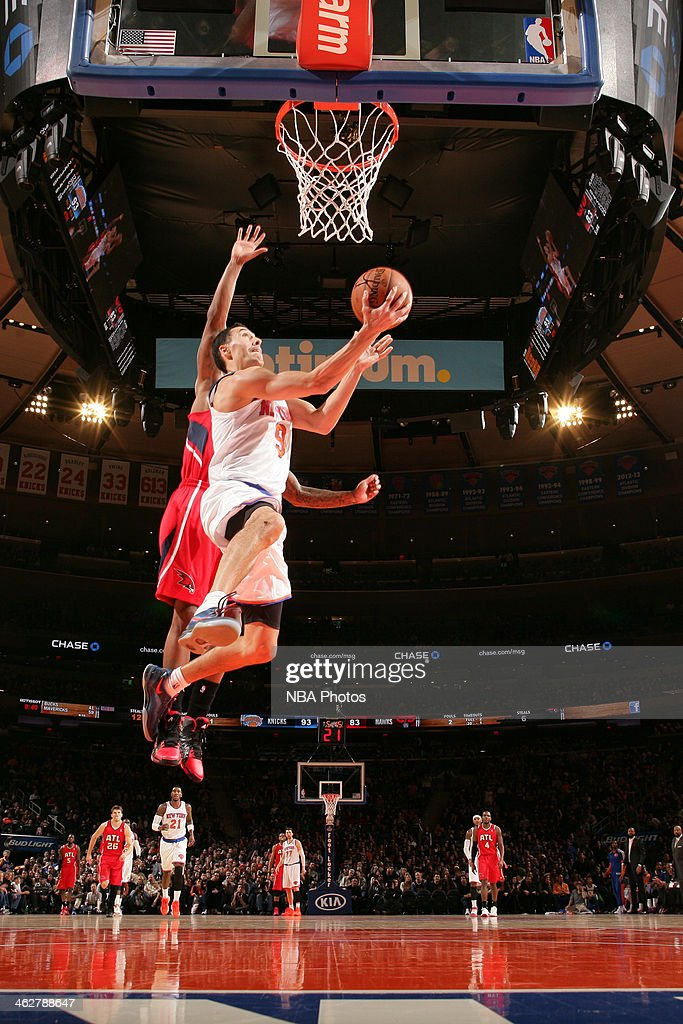 Pablo Prigioni #9 of the New York Knicks during a game at Madison Square Garden in New York City.