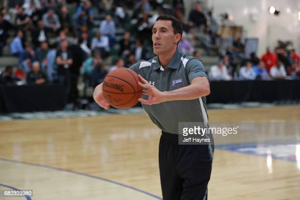 Pablo Prigioni passes the ball during the NBA Draft Combine at the Quest Multisport Center on May 11 2017 in Chicago Illinois NOTE TO USER User...