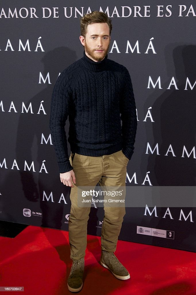 Pablo Rivero attends the 'Mama' premiere at the Callao cinema on February 4, 2013 in Madrid, Spain.
