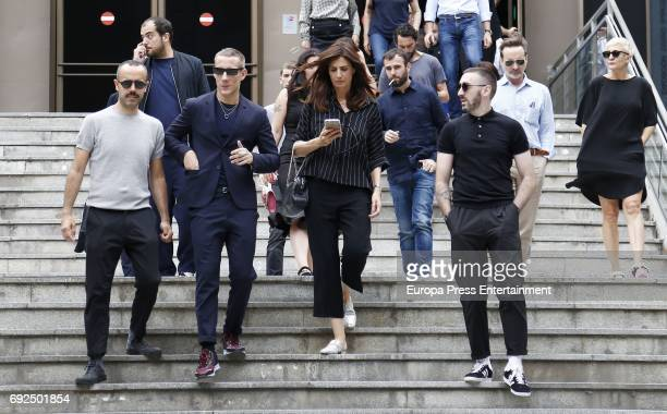 Pablo Saez and Elia Galera attend the funeral chapel for the fashion designer David Delfin at Dress Museum on June 4 2017 in Madrid Spain