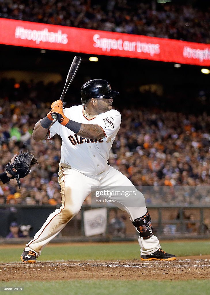 <a gi-track='captionPersonalityLinkClicked' href=/galleries/search?phrase=Pablo+Sandoval&family=editorial&specificpeople=803207 ng-click='$event.stopPropagation()'>Pablo Sandoval</a> #48 of the San Francisco Giants bats against the St. Louis Cardinals at AT&T Park on July 1, 2014 in San Francisco, California.