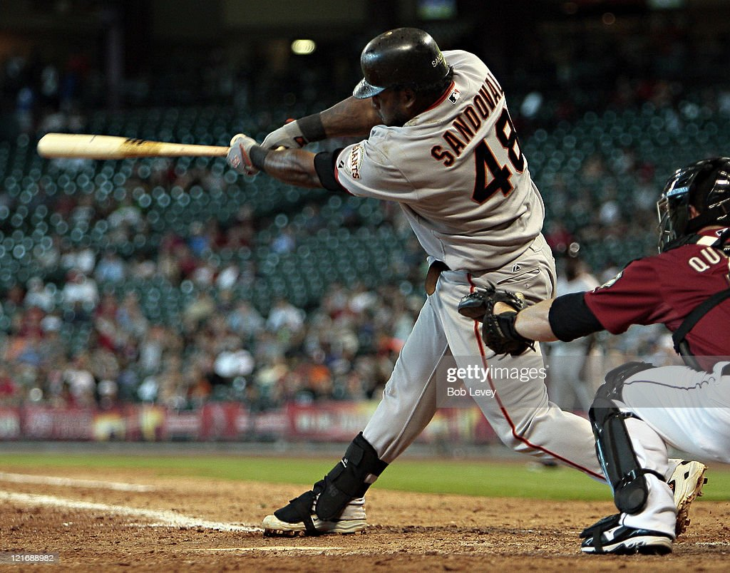 <a gi-track='captionPersonalityLinkClicked' href=/galleries/search?phrase=Pablo+Sandoval&family=editorial&specificpeople=803207 ng-click='$event.stopPropagation()'>Pablo Sandoval</a> #48 of the San Francisco Giants hits a two run home run in the eleventh inning against the Houston Astros at Minute Maid Park on August 21, 2011 in Houston, Texas. San Francisco won 6-4.