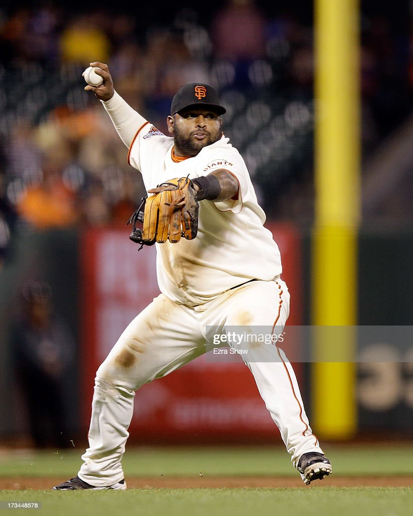 <a gi-track='captionPersonalityLinkClicked' href=/galleries/search?phrase=Pablo+Sandoval&family=editorial&specificpeople=803207 ng-click='$event.stopPropagation()'>Pablo Sandoval</a> #48 of the San Francisco Giants in action against the New York Mets at AT&T Park on July 8, 2013 in San Francisco, California.