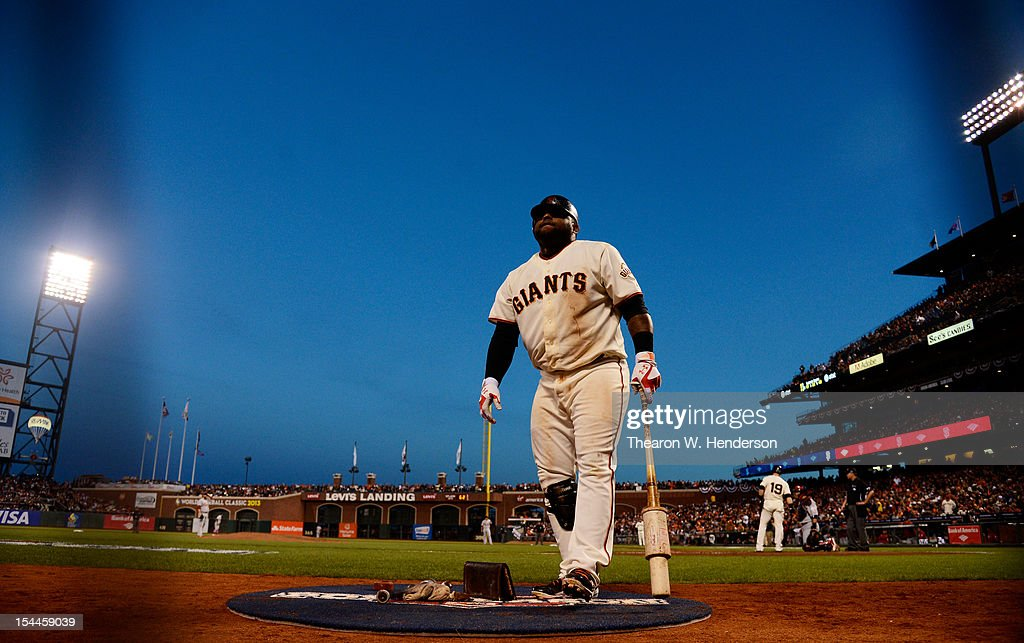 <a gi-track='captionPersonalityLinkClicked' href=/galleries/search?phrase=Pablo+Sandoval&family=editorial&specificpeople=803207 ng-click='$event.stopPropagation()'>Pablo Sandoval</a> #48 of the San Francisco Giants stands in the on-deck circle during Game One of the National League Championship Series against the St. Louis Cardinals at AT&T Park on October 14, 2012 in San Francisco, California.