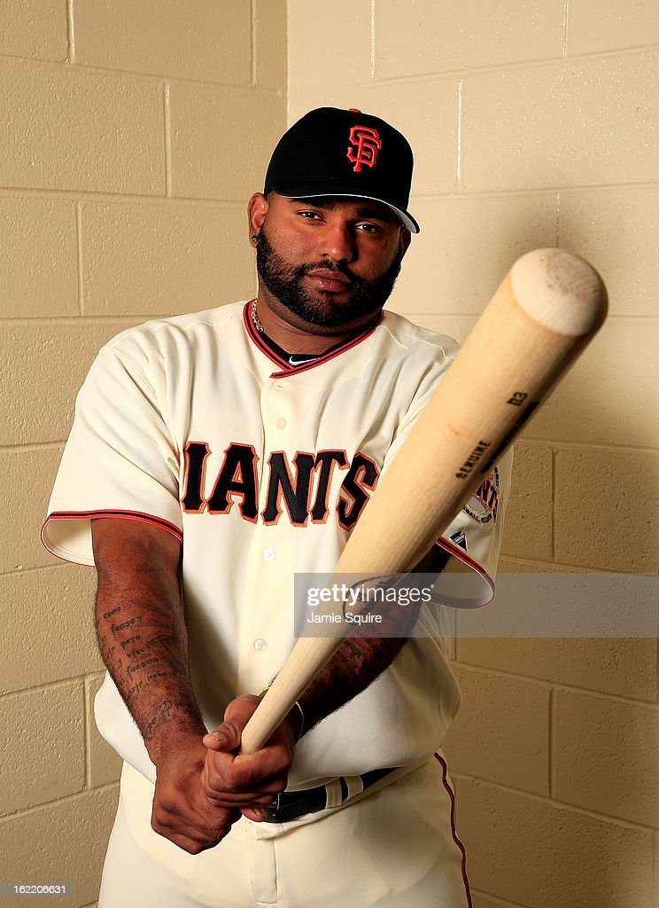 Pablo Sandoval #48 poses for a portrait during San Francisco Giants Photo Day on February 20, 2013 in Scottsdale, Arizona.