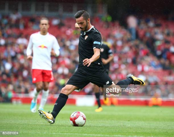 Pablo Sarabia of Sevilla FC during Emirates Cup match between RB Leipzig against Sevilla at Emirates Stadium on 29 July 2017