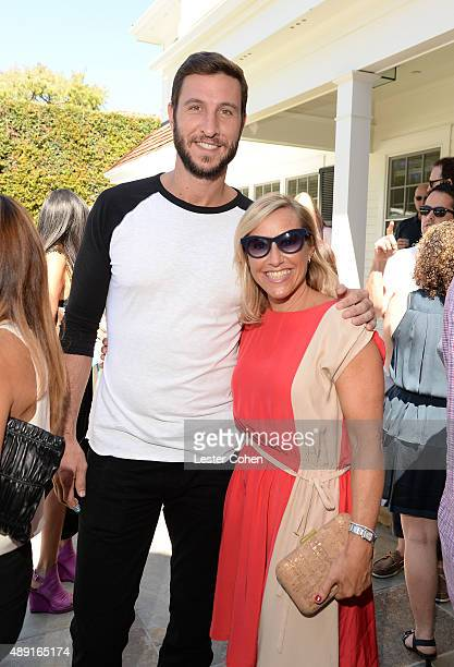 Pablo Schreiber and Bonnie Bernstein attend ICM Partners PreEmmy Brunch on September 19 2015 in Santa Monica California