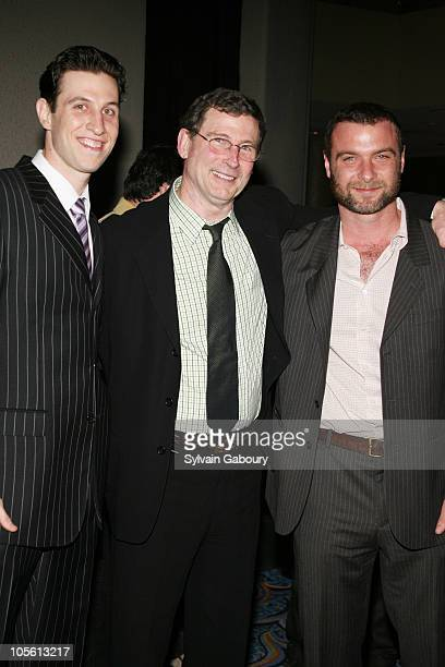 Pablo Schreiber with father Charles Schreiber and Liev Schreiber