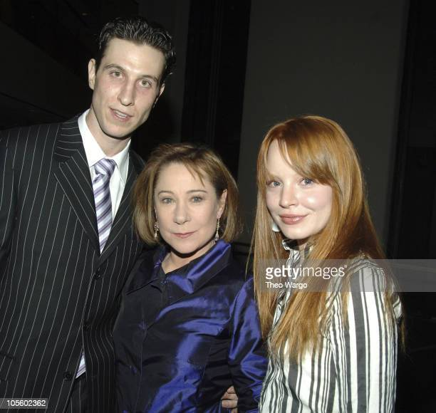 Pablo Schreiber Zoe Wanamaker and Lauren Ambrose during 'Awake and Sing' Opening Night After Party at Marriott Marquis in New York City New York...