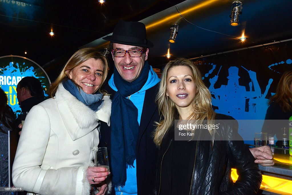 Pacale Ricard, Emmanuel de Brantesand Tristane Banon attend 'Les Toiles Enchantees' Children Care Association Auction Dinner During The 50th Foire du Trone at Pelouse de Reuilly on March 29, 2013 in Paris, France.