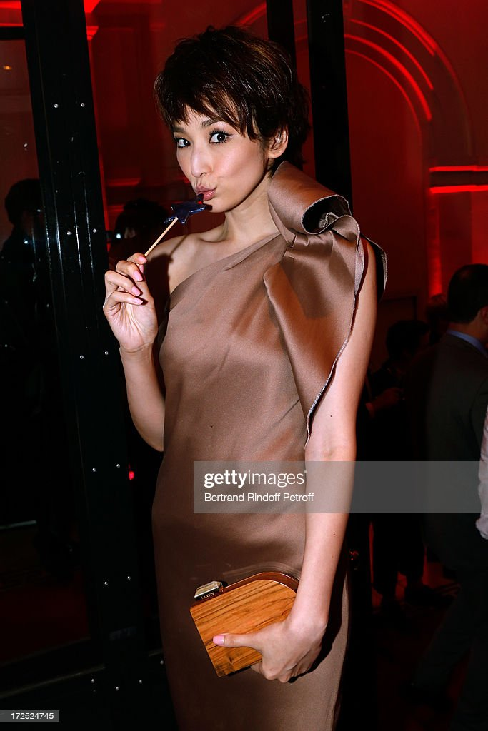 <a gi-track='captionPersonalityLinkClicked' href=/galleries/search?phrase=Pace+Wu&family=editorial&specificpeople=663581 ng-click='$event.stopPropagation()'>Pace Wu</a> attends 'Lancome show by Alber Elbaz' Party at Le Trianon on July 2, 2013 in Paris, France.