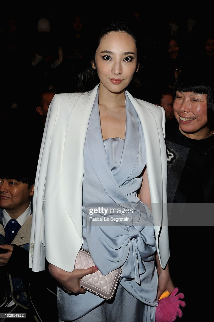 Pace Wu attends the front row at the Viktor&Rolf Fall/Winter 2013 Ready-to-Wear show as part of Paris Fashion Week on March 2, 2013 in Paris, France.