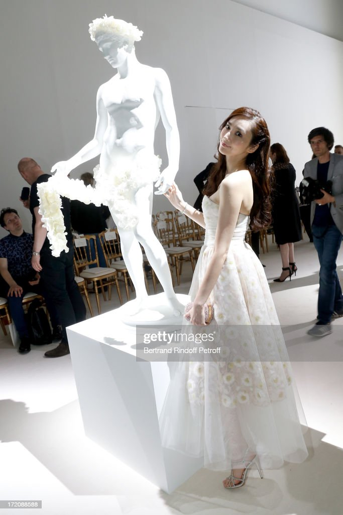 <a gi-track='captionPersonalityLinkClicked' href=/galleries/search?phrase=Pace+Wu&family=editorial&specificpeople=663581 ng-click='$event.stopPropagation()'>Pace Wu</a> attends the Giambattista Valli show as part of Paris Fashion Week Haute-Couture Fall/Winter 2013-2014 at on July 1, 2013 in Paris, France.