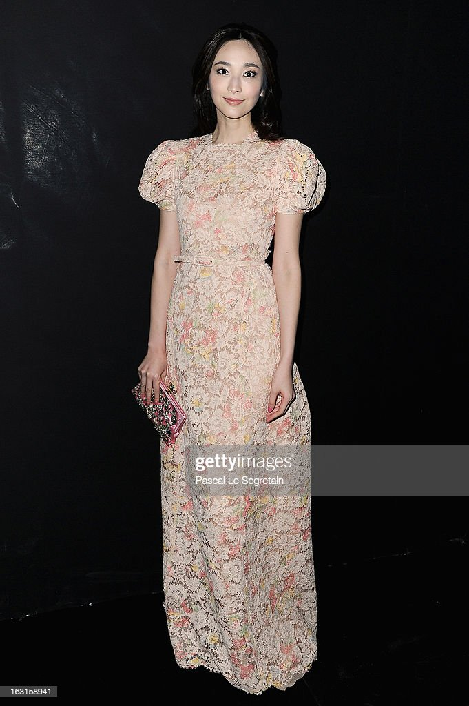 Pace Wu attends the Valentino Fall/Winter 2013 Ready-to-Wear show as part of Paris Fashion Week on March 5, 2013 in Paris, France.