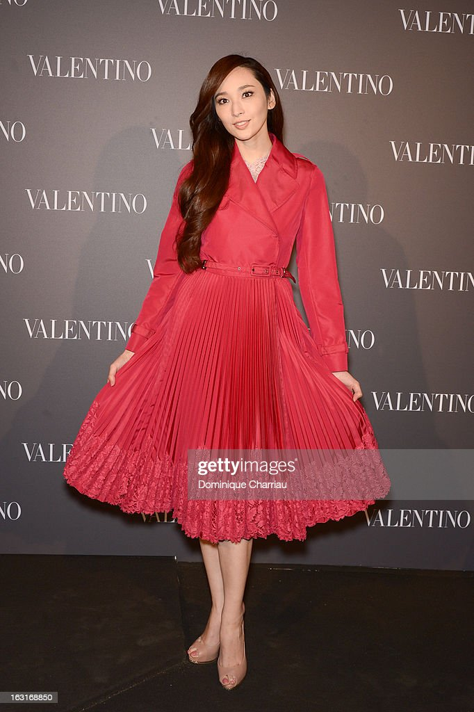 Pace Wu attends the Valentino Flagship reopening cocktail as part of Paris Fashion Week on March 5, 2013 in Paris, France.