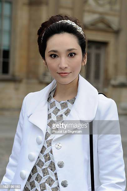 Pace Wu Pei Ci attends the Louis Vuitton Fall/Winter 2013 ReadytoWear show as part of Paris Fashion Week on March 6 2013 in Paris France
