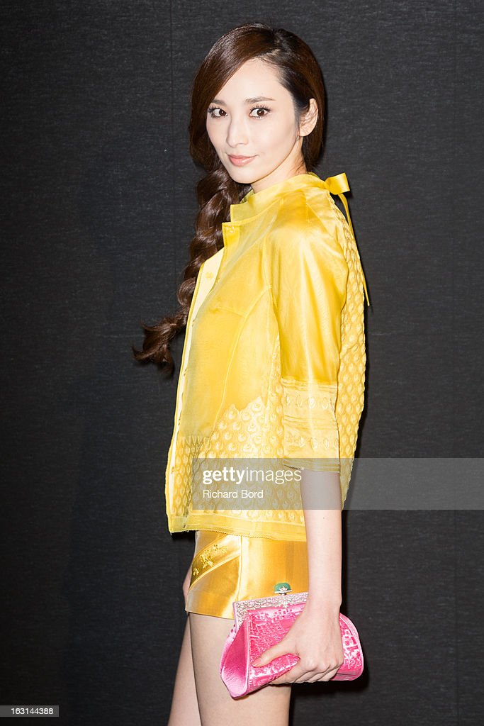 Pace Wu Pei Ci attends the Shiatzy Chen Fall/Winter 2013 Ready-to-Wear show as part of Paris Fashion Week at Le Grand Palais on March 5, 2013 in Paris, France.