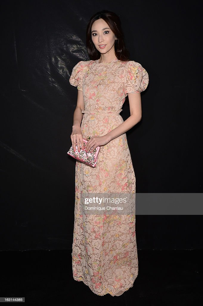 Pace Wu Pei Ci attends the Valentino Fall/Winter 2013 Ready-to-Wear show as part of Paris Fashion Week on March 5, 2013 in Paris, France.