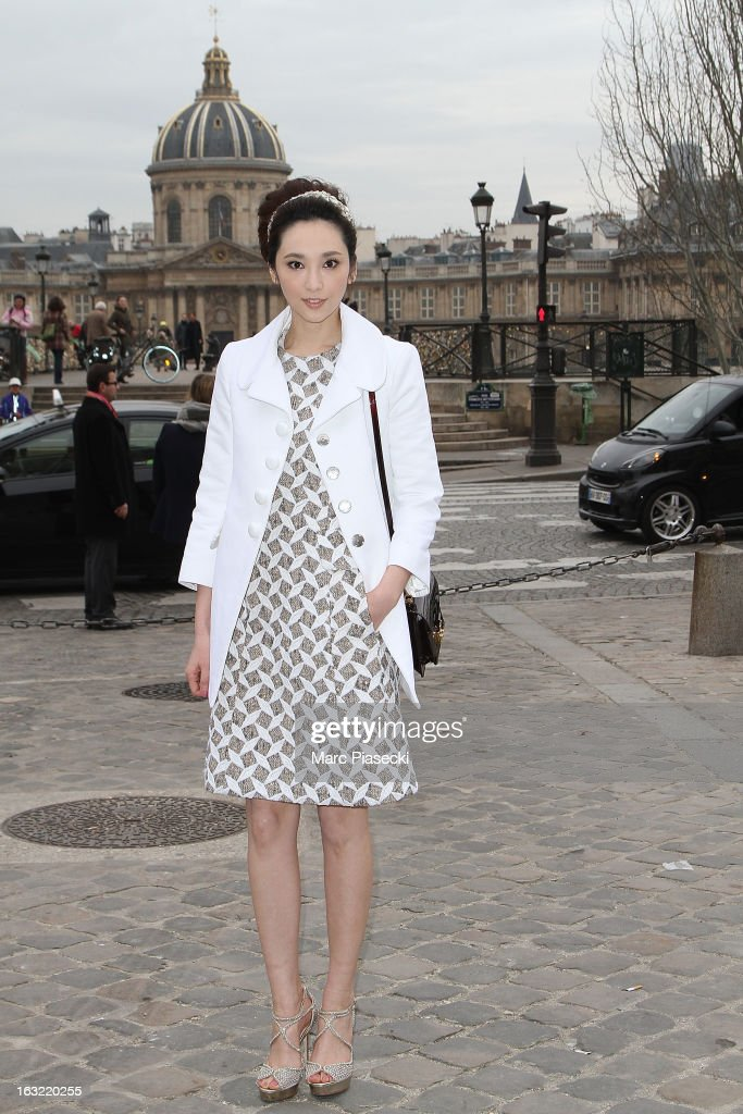 Pace Wu Pei-Ci arrives to attend the 'Louis Vuitton' Fall/Winter 2013 Ready-to-Wear show as part of Paris Fashion Week on March 6, 2013 in Paris, France.