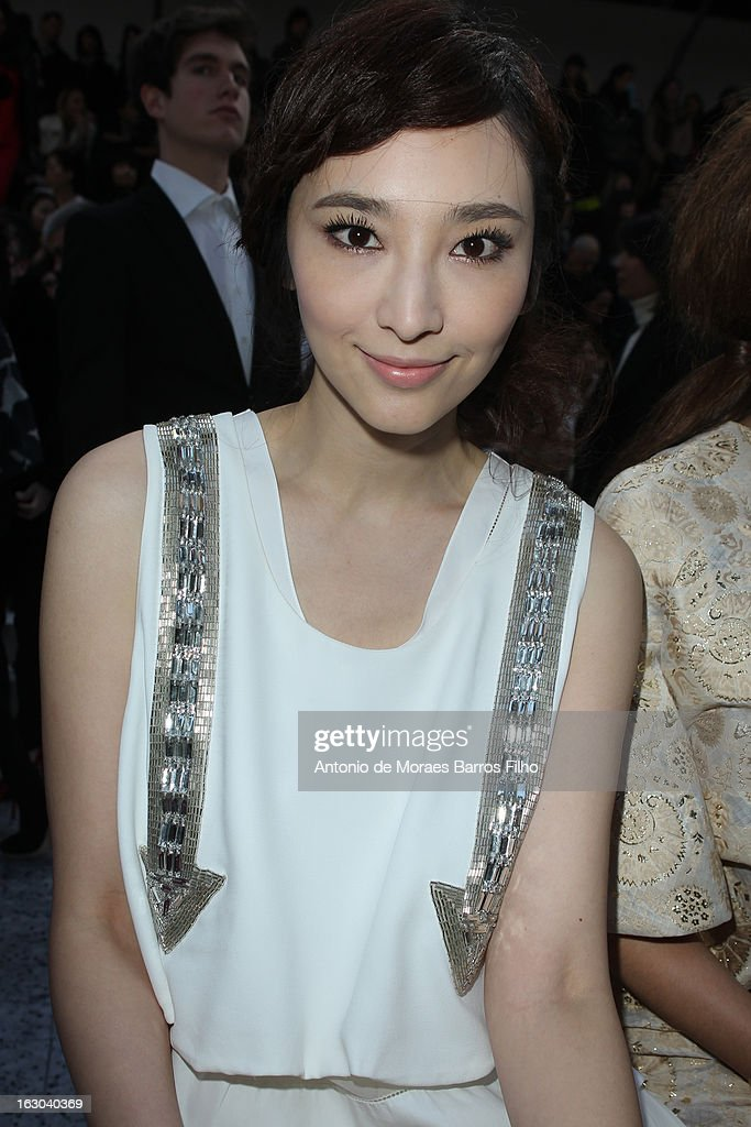 Pace Wu Pei-Ci attends the Chloe Fall/Winter 2013 Ready-to-Wear show as part of Paris Fashion Week on March 3, 2013 in Paris, France.