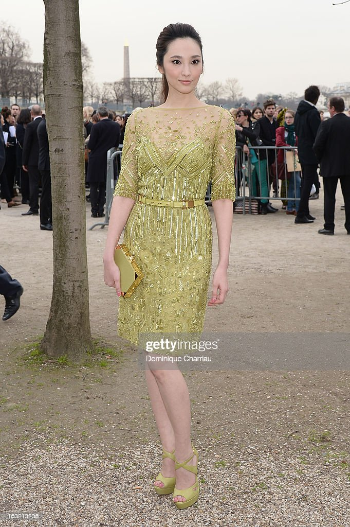 Pace Wu Pei-Ci attends the Elie Saab Fall/Winter 2013 Ready-to-Wear show as part of Paris Fashion Week on March 6, 2013 in Paris, France.