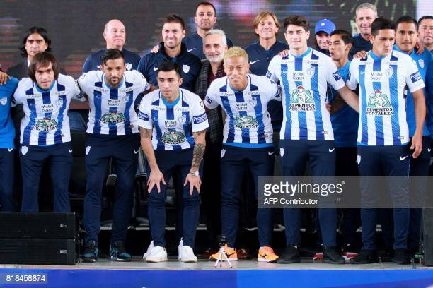 Pachuca's new football players Mexican Joaquin Martinez Uruguayan Robert Herrera Chilean Edson Puch Chilean Angelo Sagal Japanese Keisuke Honda and...