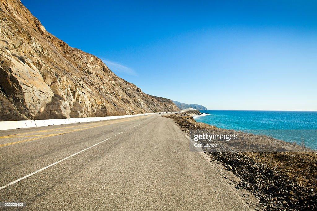 Pacific Coast Highway north of Malibu, California