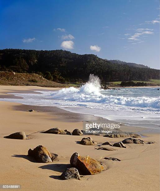 Pacific Coastline At Monastery Beach Carmel California