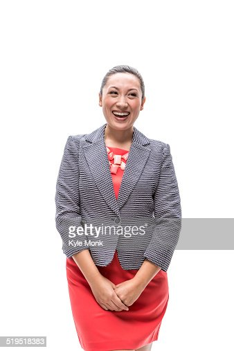 Pacific Islander businesswoman smiling