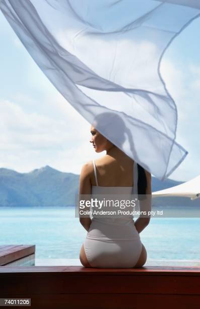 Pacific Islander woman at beach