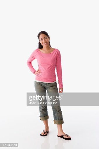 Pacific Islander woman with hand on hip