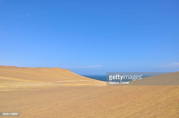 Pacific Ocean from Isthmus of Paracas Desert, Peru