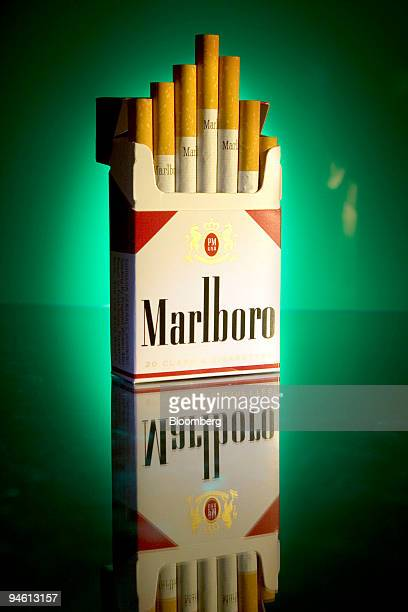 A pack of Marlboro cigarettes is arranged for an illustration in Cambridge Massachusetts on Wednesday October 25 2006 Altria Group Inc owner of the...