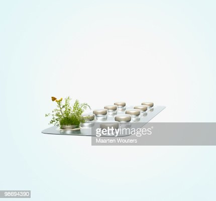 Pack of tablets in blisterpack : Stock Photo