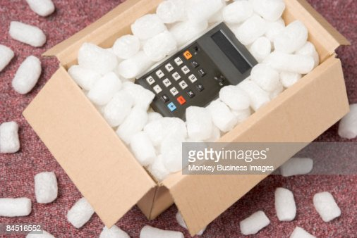 A Package Containing A Calculator : Stock-Foto