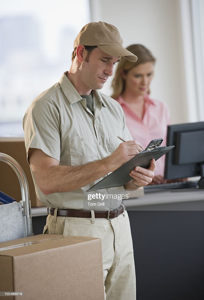 Package deliveryman : Stock Photo