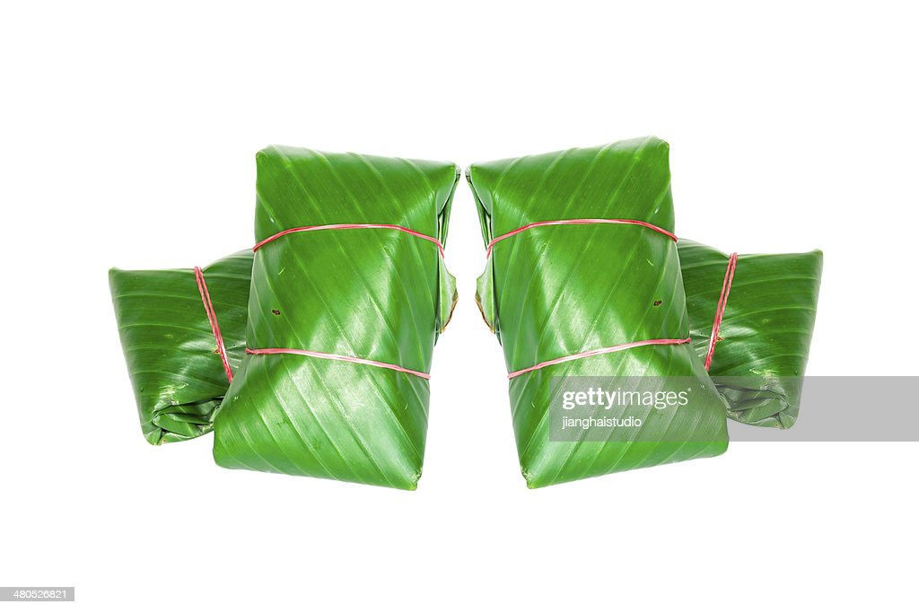 Package of banana leaves : Stock Photo