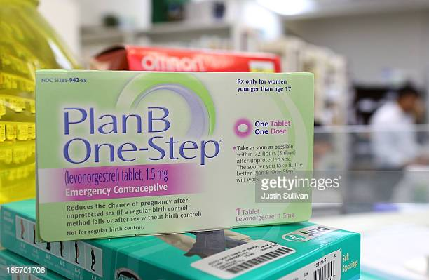 A package of Plan B contraceptive is displayed at Jack's Pharmacy on April 5 2013 in San Anselmo California A federal judge in New York City has...