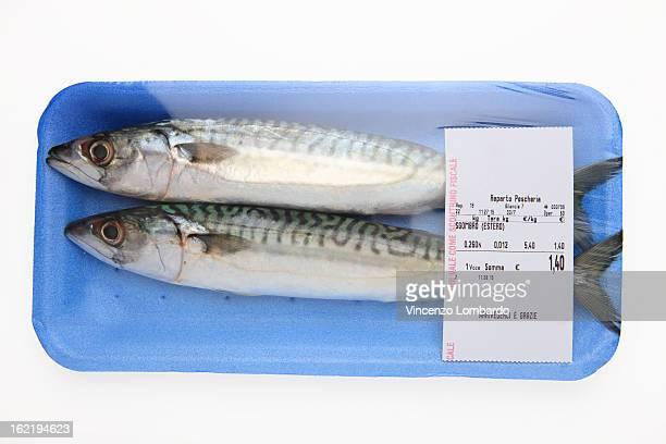 Packaged mackerel