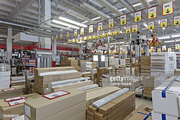 Packaged warehouse store goods