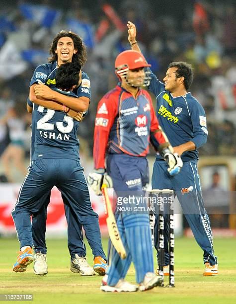 PACKAGEDeccan Chargers bowler Ishant Sharma celebrates the wicket of Delhi Daredevils batsman Y Venugopal Rao during the IPL Twenty 20 cricket match...