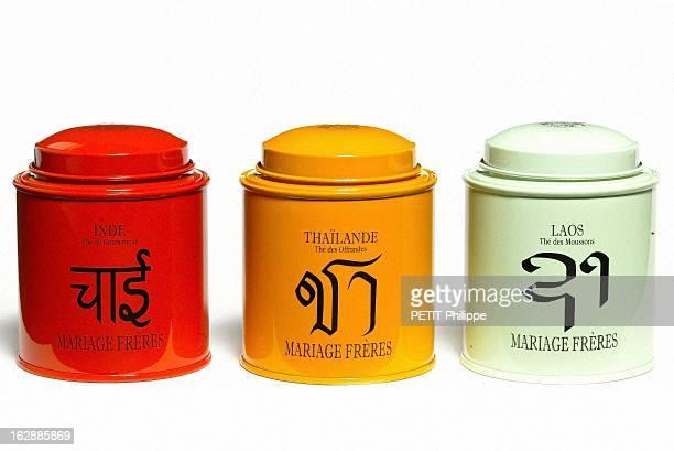 Basique boîtes de thé sérigraphiées en métal