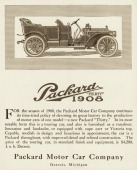"A Packard Thirty automobile is shown in a magazine advertisement from 1907 The ad states ""Capable modish in design and luxurious in appointment the..."