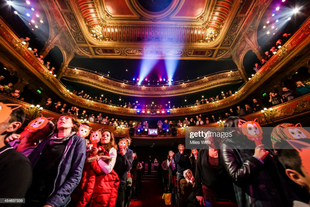 A packed audience watches the Puss in Boots pantomime at the Hackney Empire on December 6, 2013 in London, England.
