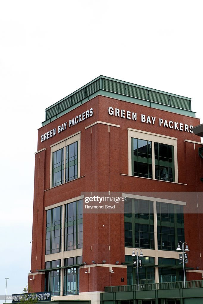 Packers Pro Shop at Lambeau Field, home of the Green Bay Packers football team on August 16, 2014 in Green Bay, Wisconsin.