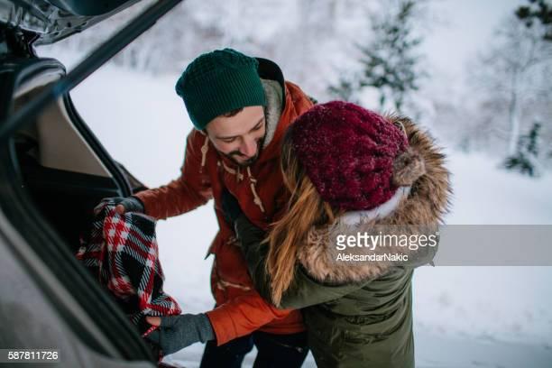 Packing for romantic winter getaway