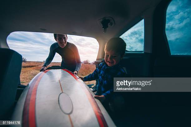 Packing our surfboards