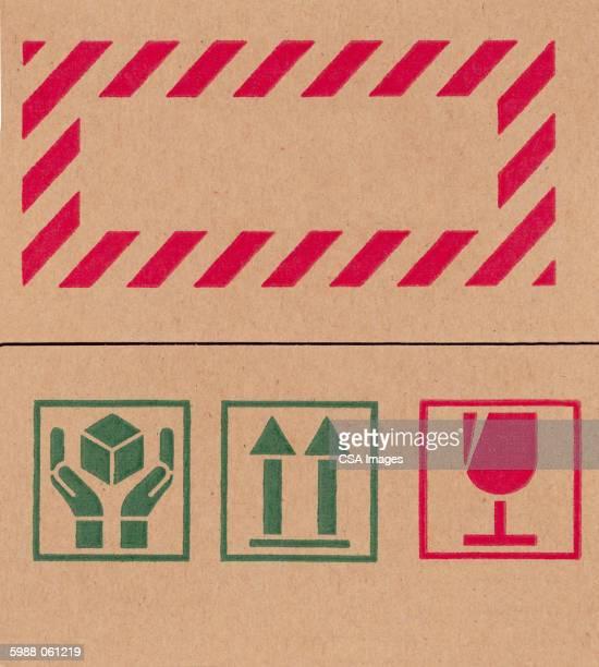 Packing Symbols on Cardboard