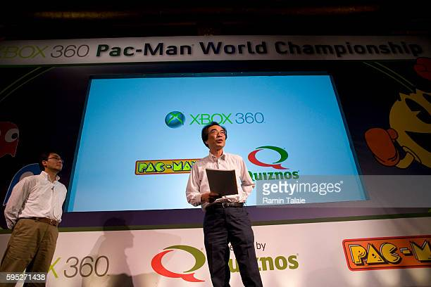 Packman creator Toru Iwatani speaks at first ever XBox Packman championship in New York City